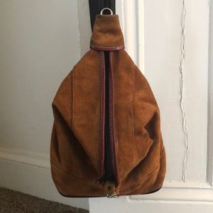 Vintage suede sling back bag
